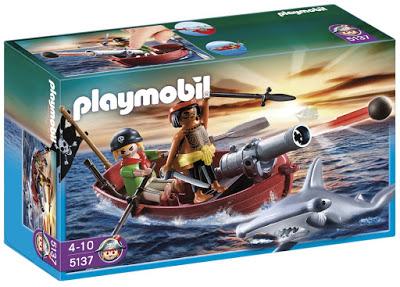 bote pirata más tiburon de playmobil en oferta
