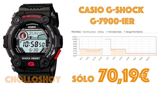 Reloj Casio GShock G-7900-1ER en oferta