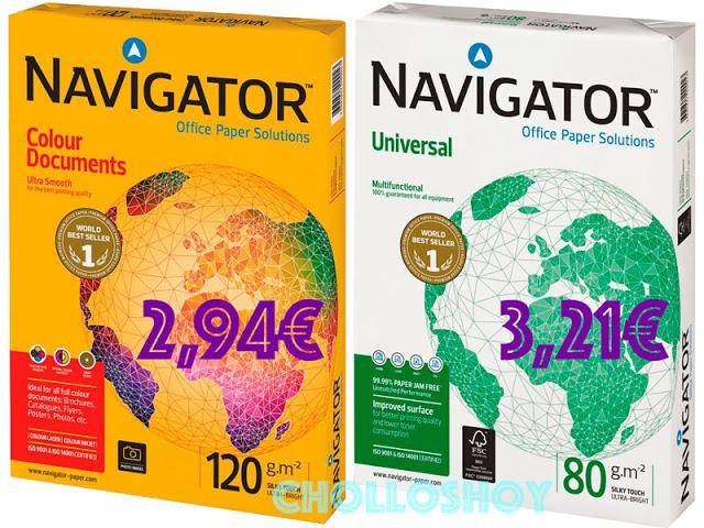 Paquetes Folios Navigator Color Documents y Universal baratos