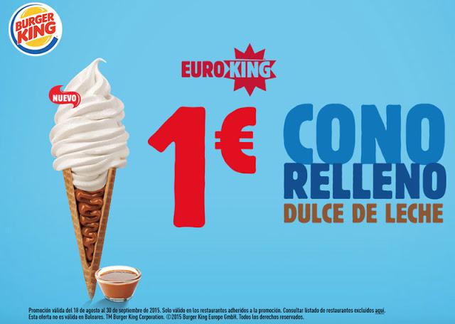 Nuevo Cono Helado con Dulce de Leche 1 euro en Burger King