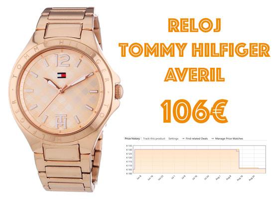 Reloj Tommy Hilfiger Averil en dorado barato