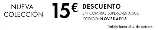 Código Descuento de 15 euros en la Nueva Colección en Amazon, nueva coleccion de moda barata en amazon, codigo descuento nueva temporada otoño invierno 15 euros,