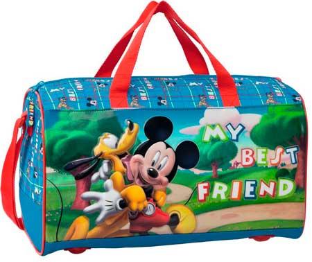 bolso de viaje barato de Disney: Mickey y Pluto My best Friend, oferta en maleta de viaje disney en amazon, bolso disney pluto y mickey barato,