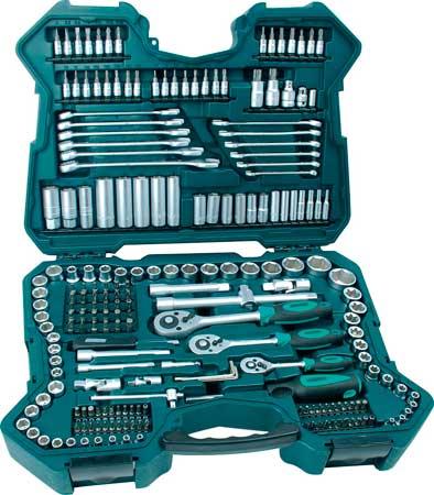 Maletín herramientas 215 piezas Mannesmann M98430 barato, maletin piezas para hacer chapuzas en coche o casa barato,