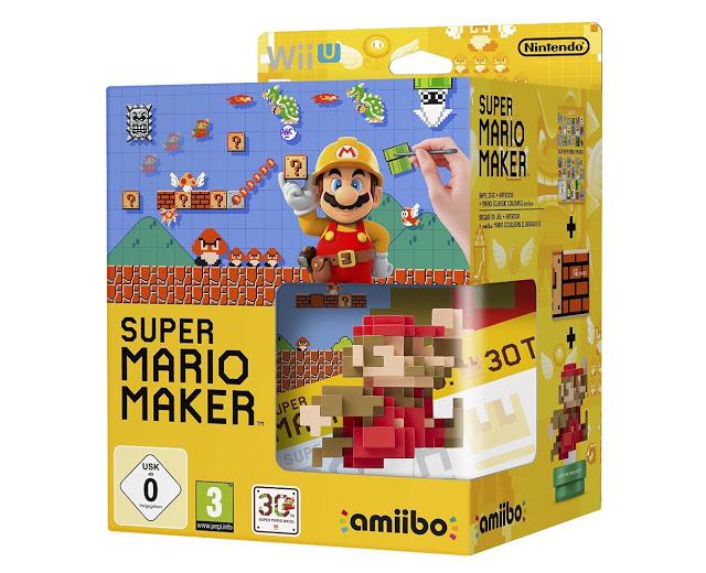 juego super mario maker wii u artbook amiibo