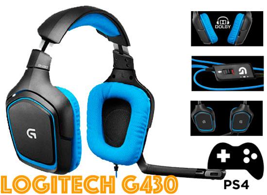 Auriculares gaming USB Logitech G430 baratos, auriculares en oferta, descuento logitech g430, auriculares gamer logitech oferta amazon,
