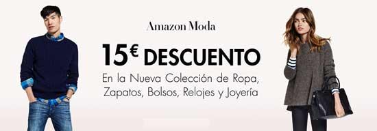 amazon moda oferta 15 euros de descuento
