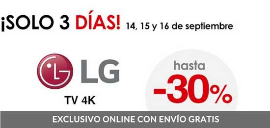 Descuento en Televisores 4K de LG en El Corte Inglés, descuento televisores 4k en tienda online elcorteingles, descuento lg baratos televisores,
