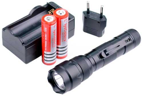 Linterna LED Llys Colors WF-502B barata, linterna táctica militar cree t6 en oferta, linterna paintball con descuento llys,