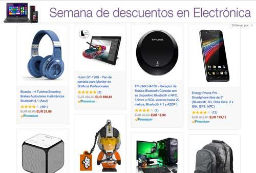 Oferta de la semana de descuento en electrónica barata en Amazon