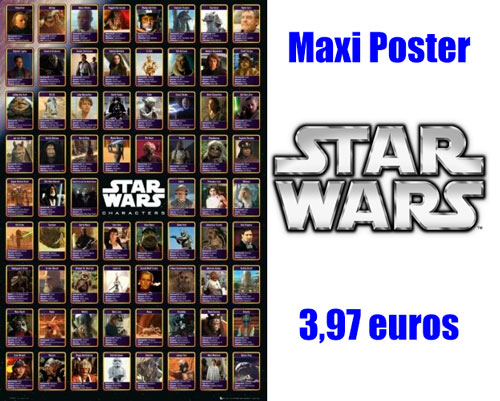 Maxi Poster Personajes Star Wars Compilation barato