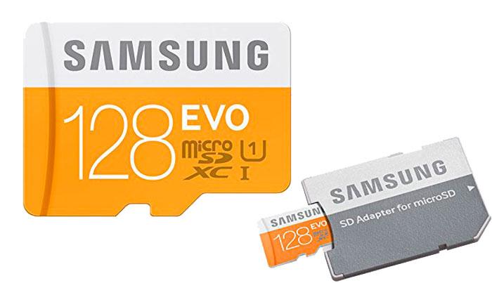 Tarjeta MicroSD con adaptador Samsung EVO 128GB barata oferta descuento chollo bdo
