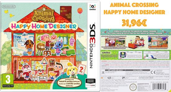 Chollo Game Juego Nintendo 3ds Animal Crossing Happy Home Designer