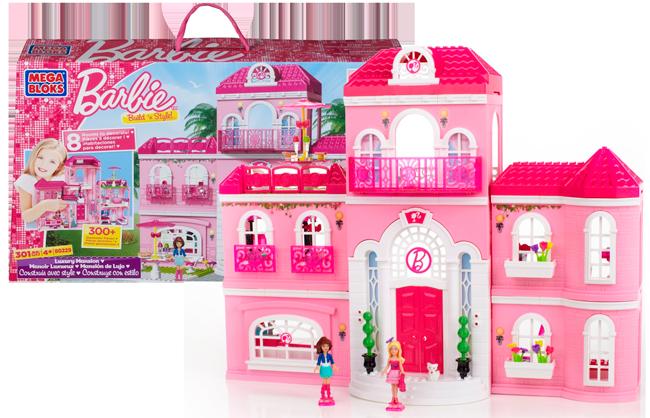 Mansión de Lujo Barbie Mega Blocks 80229 barata 35 euros