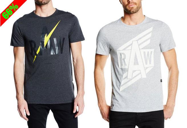 Chollo! Camisetas manga corta G-Star Raw baratas 13 euros. 66% Descuento