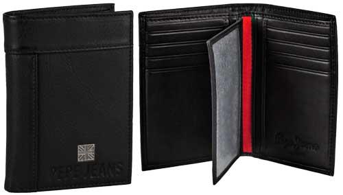Cartera de Piel Pepe Jeans 7082101 barata, cartera barata de pepe jeans en amazon, amazon en oferta de carteras de piel billetero,