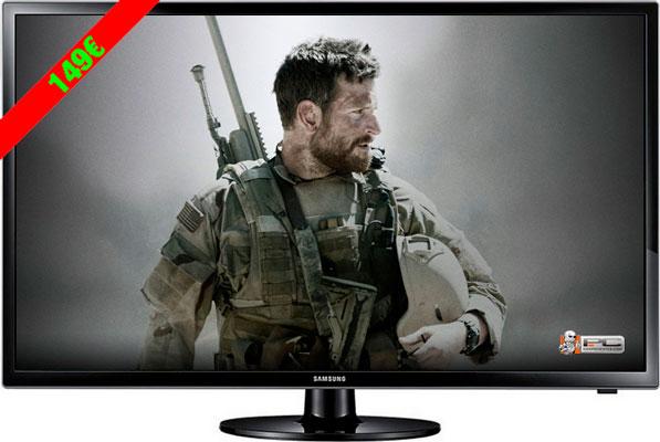Televisión monitor 24 LED Samsung UE24H4003AW barata 149 euros