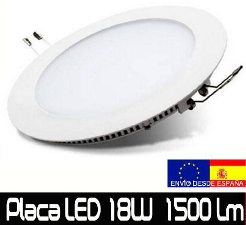 Oferta en Downlight LED 18W Extraplano barato 14 euros. Clase A 1500 lumenes