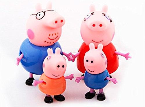 Pack Figuras Familia Peppa Pig George Papa Mama baratas