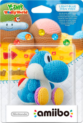Figura Nintendo Amiibo Yoshi Lana azul barato 12 euros, figuras de amiibo en oferta con descuento en amazon,