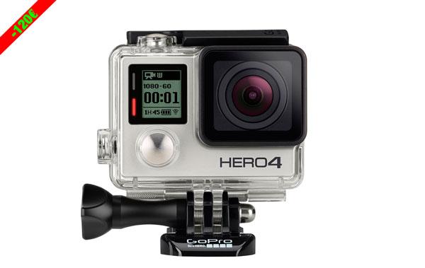 Chollo! Cámara de Acción GoPro HERO4 Silver Edition barata 309 euros. 28% Descuento