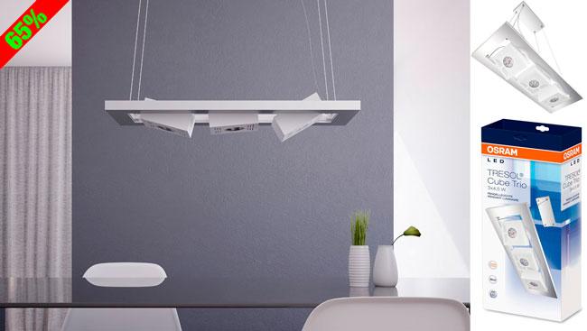 Chollo! Lámpara de salón LED Osram 73236 Tresol Cube Trio barata 50 euros. 65% Descuento