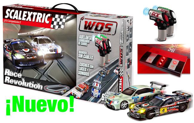 ¡Nuevo lanzamiento! Scalextric WOS Circuito Race Revolution barato al 7% Descuento