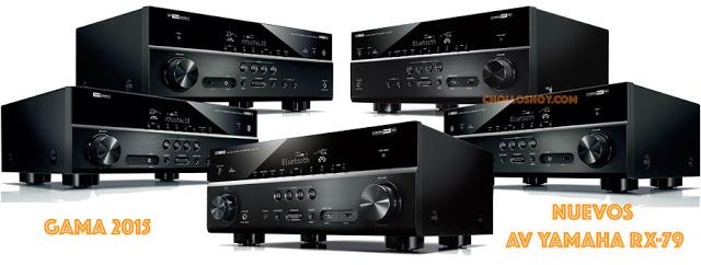 Nuevos Receptores AV Yamaha RX379 RX479 RX559 RX679 RX779 españa 2015