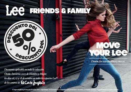 ¡Toda la marca LEE al 50%! Promoción Friends & Family en El Corte Inglés