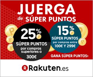 Juerga de Super Puntos en Rakuten! Hasta 25% en Super Puntos en tus compras