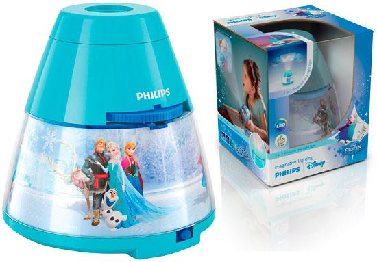 Proyector y Luz Nocturna Philips Disney Frozen barato, lampara bara de disney con calidad y descuento,
