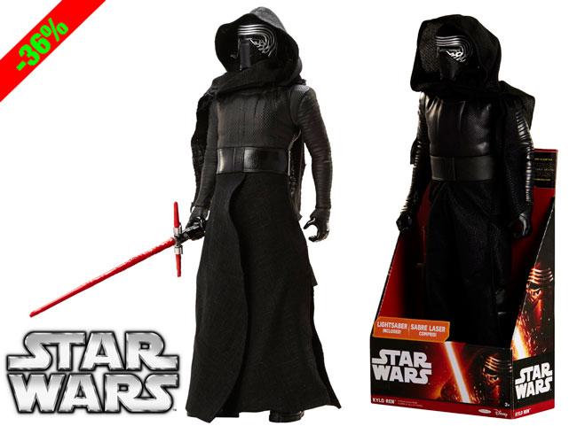 ¡Chollo! Figura Kylo Ren 50cm de Star Wars El Despertar de la Fuerza barata 22 euros. 36% Descuento