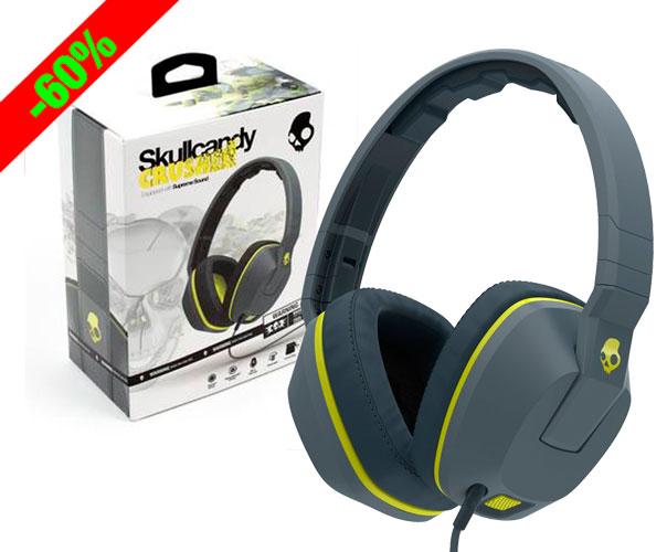 Chollo! Auriculares con micrófono Skullcandy Crusher baratos 39,99 euros. 60% Descuento