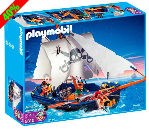 Chollo! Barco Pirata de Playmobil Corsario (5810) barato 29,95 euros. 40% Descuento