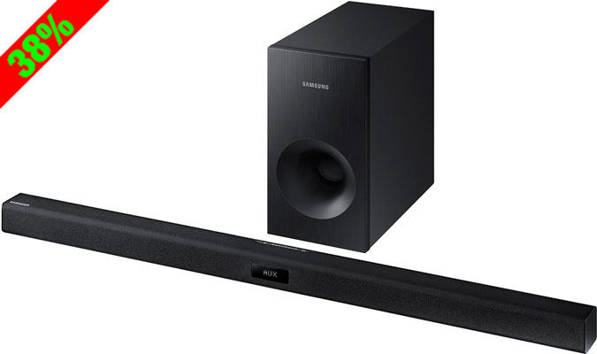 Chollo! Barra de Sonido Bluetooth + Subwoofer Samsung HW-J355/ZF barata 99 euros. 38% Descuento