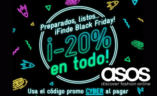 ¡Black Friday en ASOS! TODA tu Moda al 20% de Descuento. Válido hasta 1/12/2015