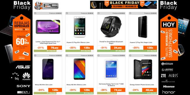 ¡Black Friday en PcComponentes! Telefonía, tablets y wearables Baratos