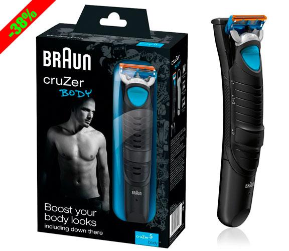 ¡Chollo! Afeitadora Corporal Braun CruZer 5 Body barata 34 euros. 38% Descuento