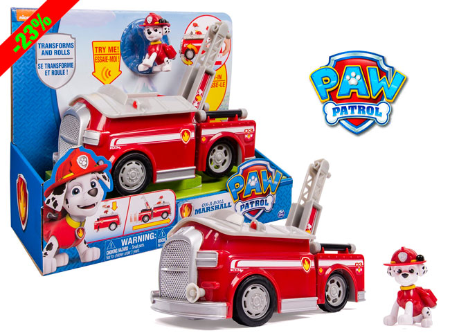¡Chollo! El más vendido Camión bomberos Patrulla Canina Spin Master con Marshall barato 33 euros
