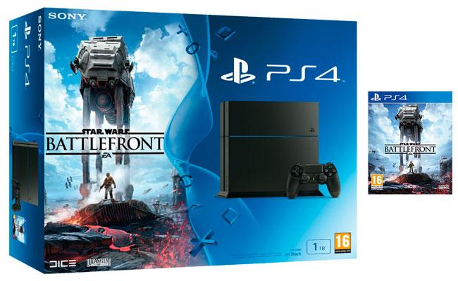 Avalancha de super puntos Chollo! Consola PS4 1TB + Juego BattleFront barata 409,95 euros y te Devuelven 102€