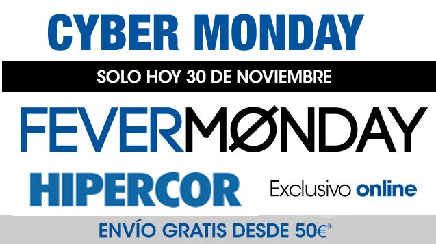 Cyber Monday Hipercor FeverMonday en Juguetes y Electrónica