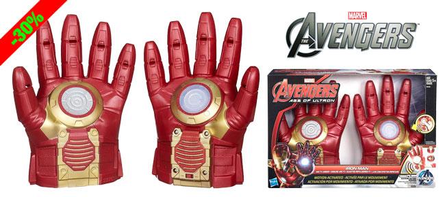 ¡Chollo! Guantes electrónicos de Iron Man Los Vengadores baratos 17 euros. 30% Descuento