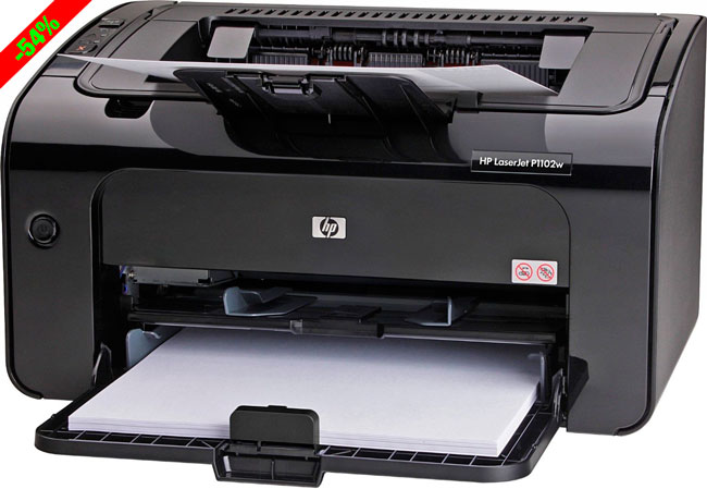 ¡Chollazo! Impresora Láser HP LaserJet Pro P1102w barata 59,99 euros. 53% Descuento