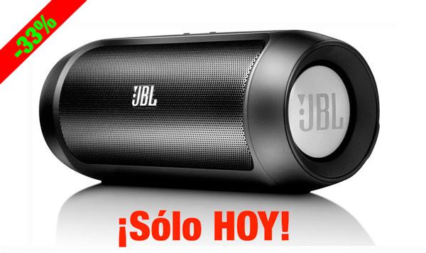 ¡Chollo! Altavoz Bluetooth JBL Charge II barato 99 euros. 33% Descuento. Sólo HOY