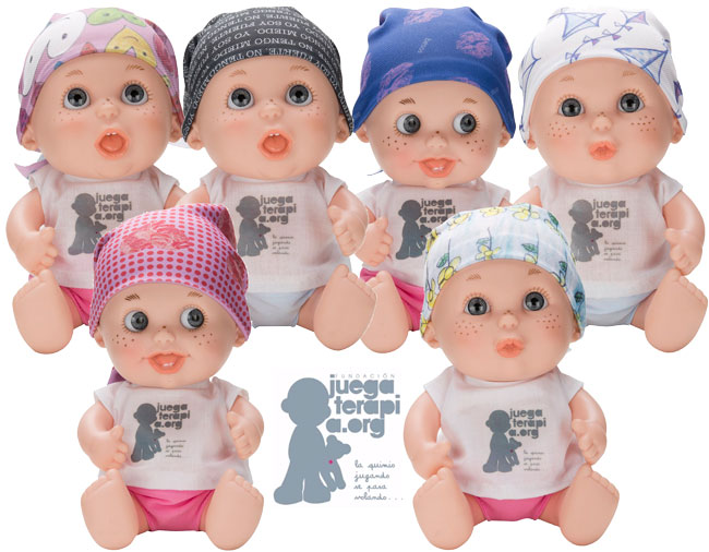 Disponibles Muñecos Solidarios contra el cáncer Baby Pelon Juegaterapia. ¡Regalo Perfecto!