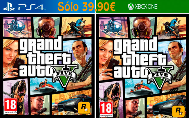 ¡Chollo! Juego Grand Theft Auto V GTA5 barato 39,90 euros. 33% Descuento