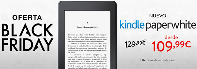 ¡Chollazo! Nueva Kindle Paperwhite en Black Friday barata 109,99 euros. Ahorras 20 euros.