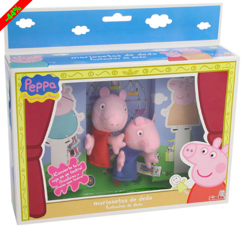 Chollo! Marionetas de dedo Peppa Pig baratas 8 euros. 44% Descuento