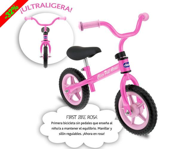 ¡Chollo! Mi Primera Bicicleta Chicco Rosa barata 22 euros. 32% Descuento