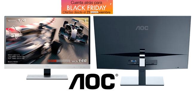 ¡Oferta del día Black Friday! Monitor LED AOC 27 Pulgadas I2757FM barato 209,90 euros